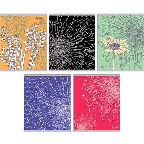 Тетрадь Цветочное вдохновение (графика) А5, 48 листов в клетку, в ассортименте тетрадь в клетку цветочное вдохновение а5