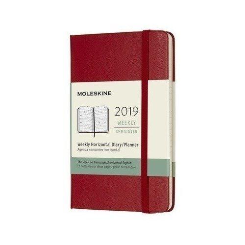 Еженедельник Classic WKLY Pocket, 90 x 140 мм, 144 страниц, красный еженедельник moleskine classic wkly large 130х210мм 144стр красный