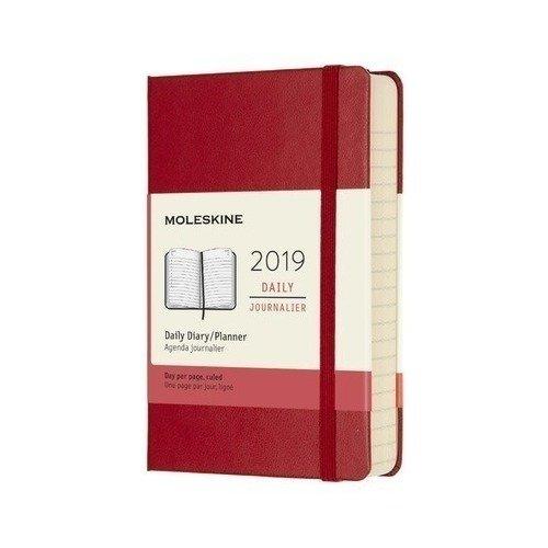 Ежедневник Classic Pocket, 90 x 140 мм, 400 страниц, красный цена