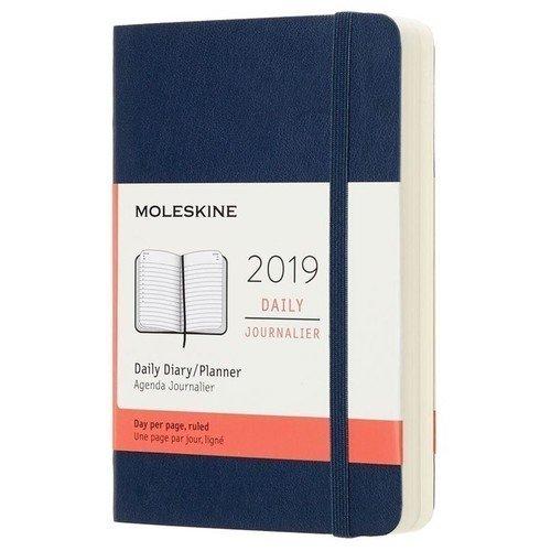 Ежедневник Classic Soft Pocket, 90x140 мм, 400 страниц, синий сапфир цена