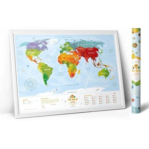 Интерактивная карта мира Travel Map Kids Sights, с набором карточек карта c map rs n235 волго донский канал и азовское море
