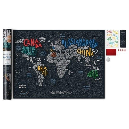 """Скретч-карта мира Travel Map """"Letters World"""""""