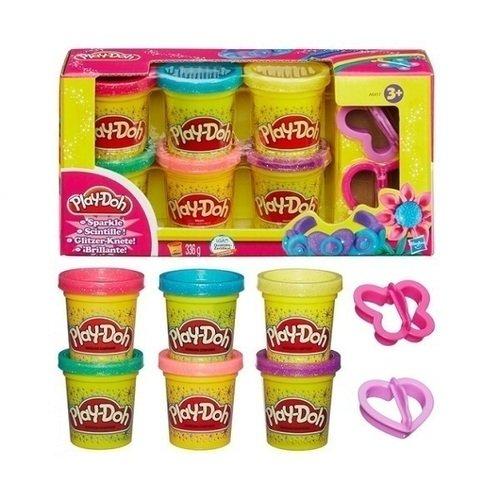 Набор пластилина из 6 баночек Блестящая коллекция (A5417) sentosphere набор пластилина для детской лепки 5 цветов