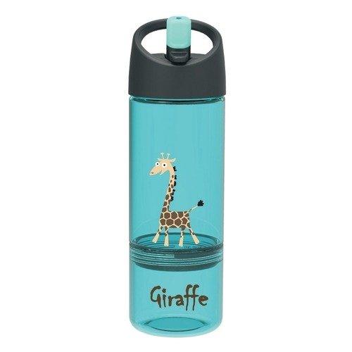 """Детская бутылка 2 в 1 """"Carl Oscar Giraffe"""", бирюзовая"""