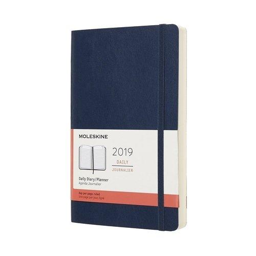Ежедневник Classic Soft Large 2019, синий сапфир цена
