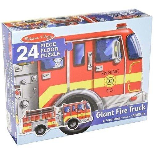 Напольный пазл Пожарная машина, 24 элемента цена