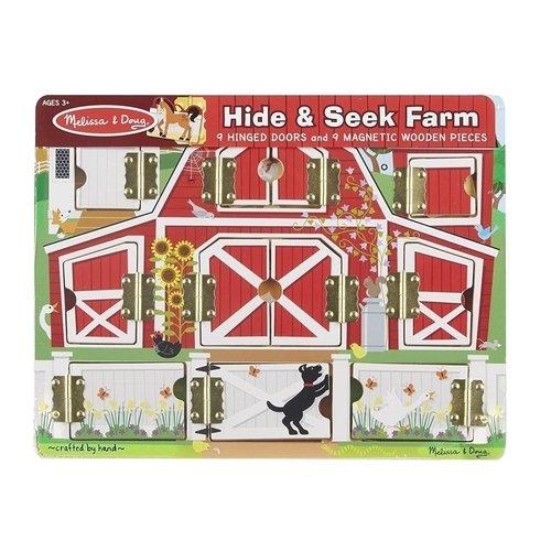 Купить Магнитная доска с окошками Ферма , Melissa & Doug, Развлекательные и развивающие игрушки