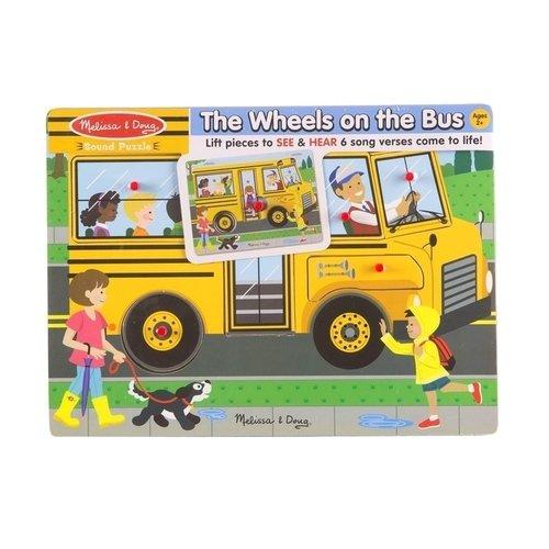 Пазл со звуком Автобус, 6 элементов цена