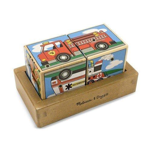 """Пазл со звуком """"Кубики. Транспорт"""", 3 элемента"""