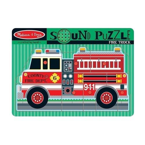 Пазл со звуком Пожарная машина, 8 элементов цена