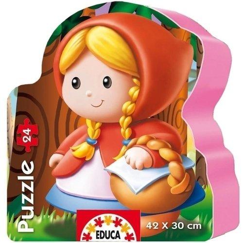 Купить Пазл-силуэт Красная Шапочка , 24 элемента, Educa, Пазлы