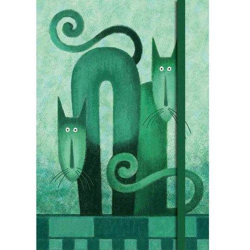 "цена Бизнес-блокнот Modo Arte ""Cats"", 160 стр., в клетку, 120 x 170 мм в интернет-магазинах"
