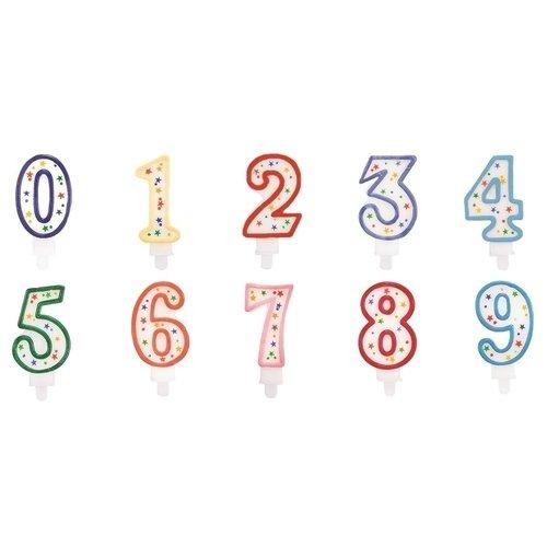 """Свеча на день рождения """"Цифра"""", в ассортименте"""