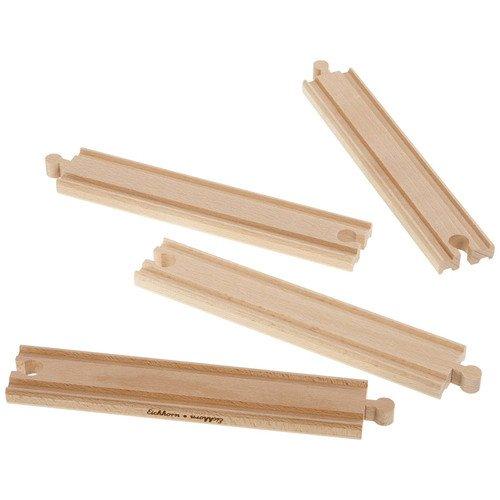 Набор прямых элементов для деревянной ж/д набор элементов для железной дороги eichhorn 100001415