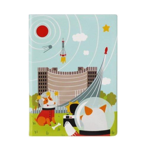"""Обложка для паспорта """"Белка и Стрелка"""", 8,5 х 12,5 см"""