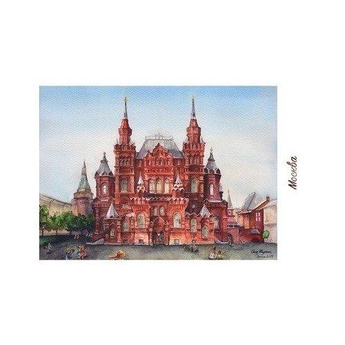 Открытка «Исторический музей, зима» из серии открытка натюморт