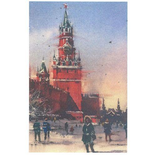 Открытка «Спасская башня, зима» открытка поехали из серии бессмысленные котики автор татьяна перова