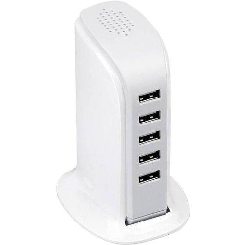 Фото - Сетевое зарядное устройство Neo ZQ6, 5 x USB, 2А, белое сетевое зарядное устройство deppa micro usb для цифровых устройств 1a черный 23120