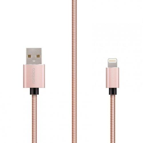 "Кабель ""Digital IS-02 USB - Apple Lightning (MFI)"", 1 м, розовый rombica digital is 02 pink кабель usb lightning 1 м"