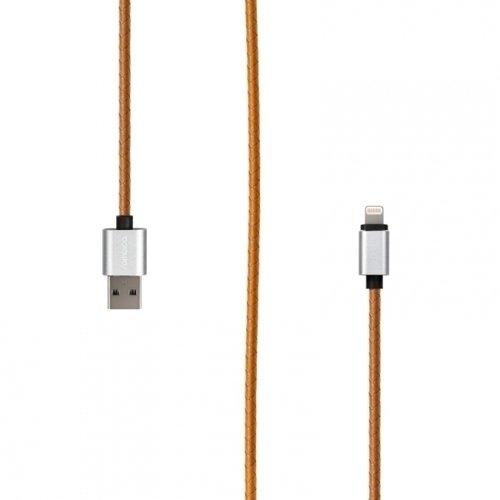 Фото - Кабель Rombica Digital IL-03 USB - Lightning (MFI), 1 м, охра кабель для apple lightning mfi rombica digital il 02 1м оплетка под кожу серый