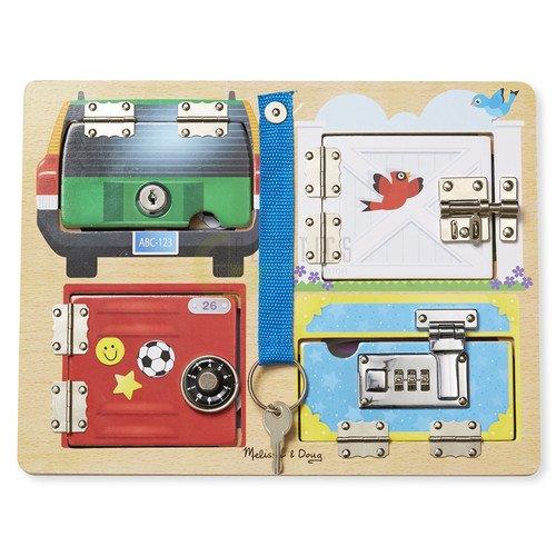 Купить Обучающая игра Доска с замочками , Melissa & Doug, Развлекательные и развивающие игрушки