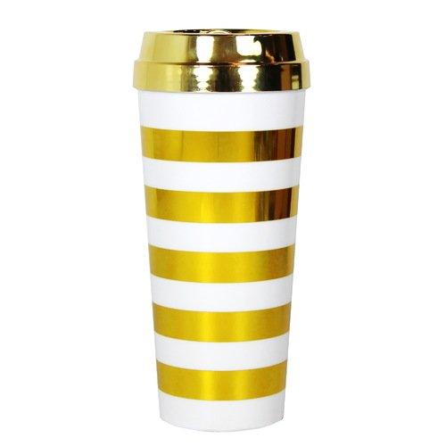 Стакан для кофе в золотую полоску стакан для чая кофе ты моя звезда