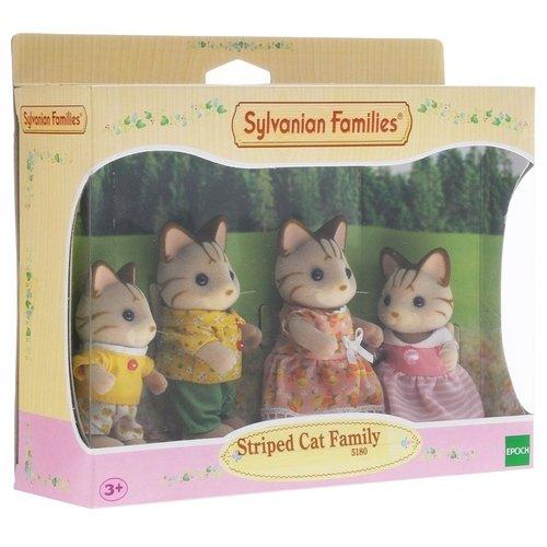 Игровой набор Семья Полосатых Кошек sylvanian families семья полосатых кошек многоцветный