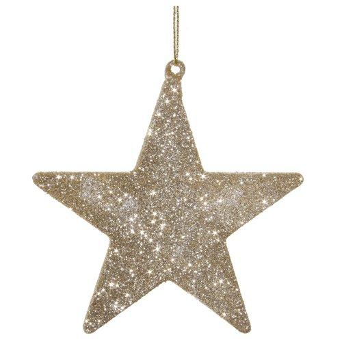 Елочное украшение Звезда, 10 см украшение елочное звезда барокко 8 8 см черный золотой 1 шт в пакете