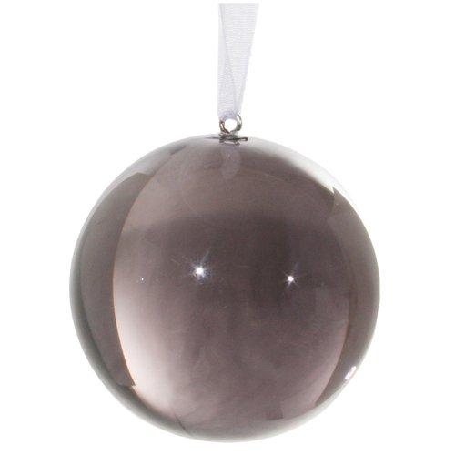 Елочный шар, 6 см, серый