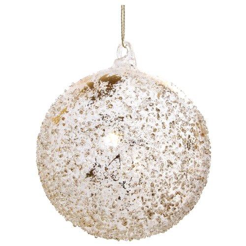 Елочный шар с листком, 10 см дизайнерский елочный шар на подставке quelle russian elka 1021263