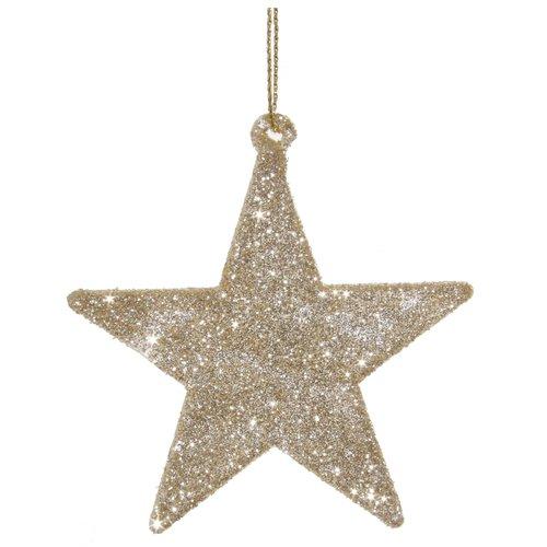 Елочное украшение Звезда, 7 см украшение елочное шар белка 7 см стекло
