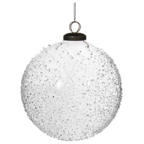 Елочный шар в каплях, 8 см цена