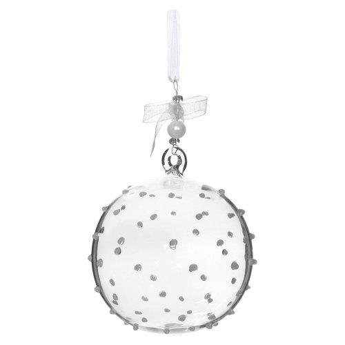 Елочный шар с точками, 7 см
