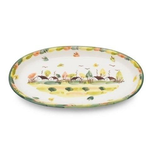 Тарелка Домики, овальная смесь приправ здоровая еда основа для рыбных блюд 150 г