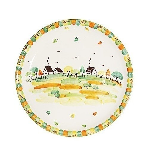 Тарелка без полей Домики, 10 см