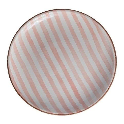 Тарелка Страйп без полей, 27 см, розовая тарелка страйп без полей 25 см синяя