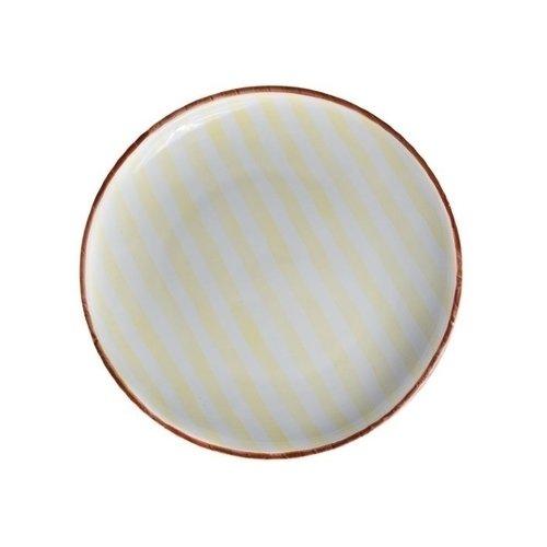 Тарелка Страйп, без полей, 10 см, желтая