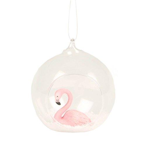 Фото - Елочное украшение Фламинго, стекло украшение гр8