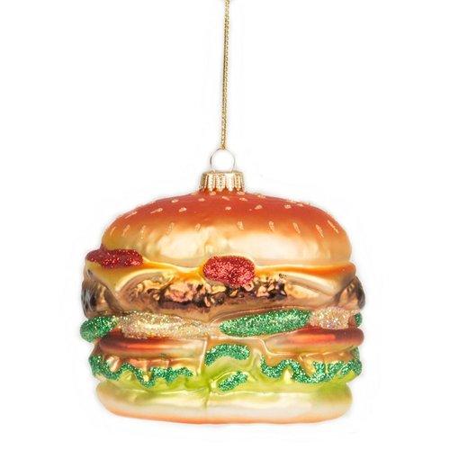 """Елочное украшение """"Гамбургер"""", стекло недорого"""