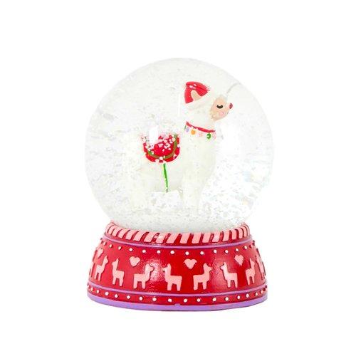 Снежный шар Лама, 8,5 см цена