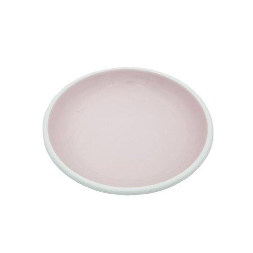 Эмалированная тарелка, 26 см, розовая