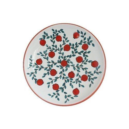 Тарелка Гранаты на ветке без полей, 10 см