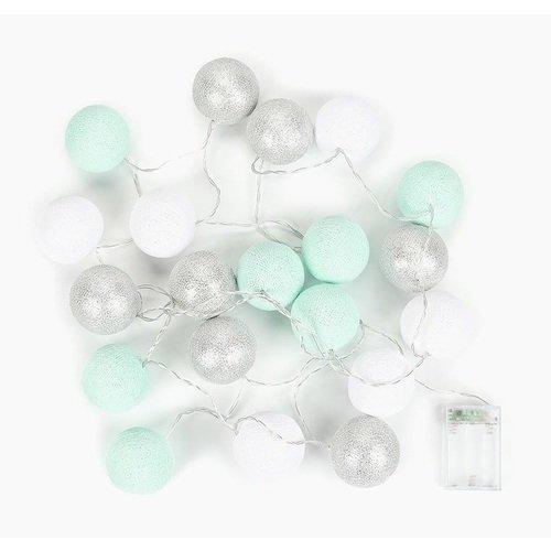 """Гирлянда на батарейках """"Серебро"""", 20 шариков, 3,5 м"""