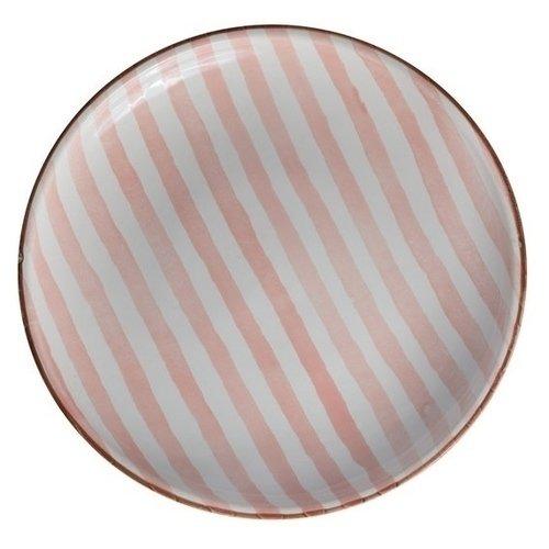 """Тарелка """"Страйп"""" розовая, 10 см"""