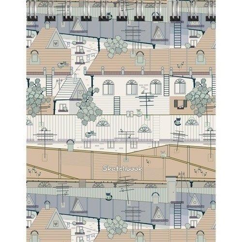 Скетчбук Крыши города. Графика А6, 80 листов, 100 г/м2 скетчбук взрыв эмоций графика а6 80 листов нелинованная