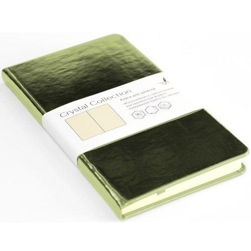 Записная книжка Crystal Collection, 96 листов, желто-зеленая listoff записная книжка crystal collection цвет желто зеленый 96 листов кзкк5962599