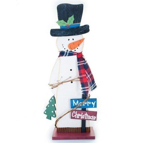Деревянный снеговик украшение luazon снеговик blue 1351712