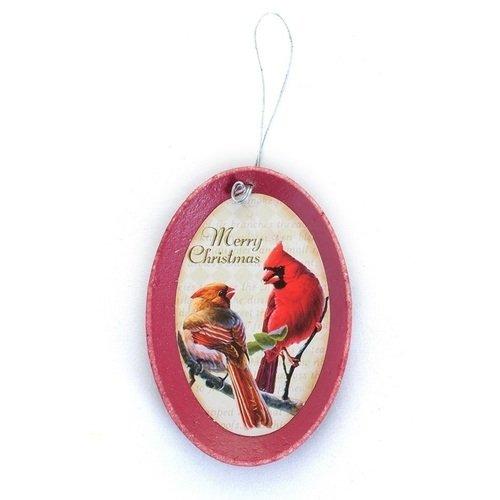 """Новогоднее украшение на подвесе """"Табличка с птичками"""", в ассортименте"""
