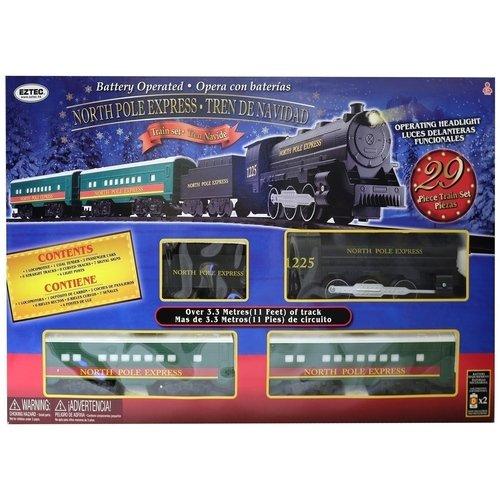 Железная дорога North Pole Express Train Set, 29 деталей цена