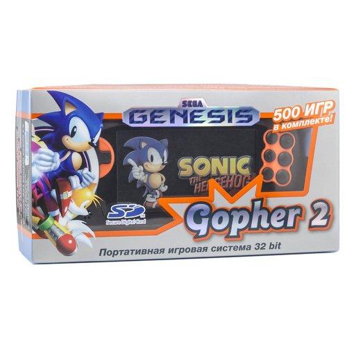 Игровая приставка Genesis Gopher 2 LCD 4.3, оранжевая, 500 встроенных игр игры для игровой приставки denn